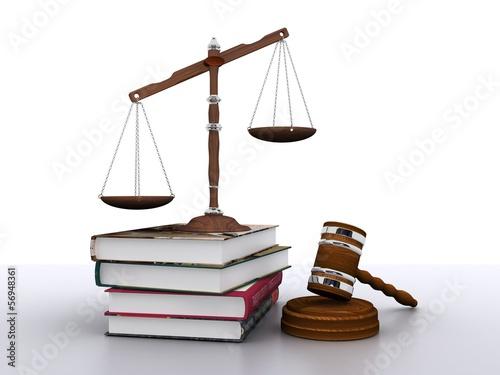 Symbol of law - concept