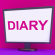 Diary Screen Shows Online Planner Planning Or Scheduler