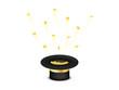 Hut mit Gold Münzen fliegend goldenes Band