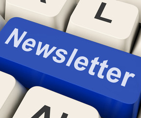 Newsletter Key Shows News Letter Or Online Correspondence