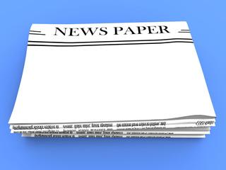 Blank Newspaper With Copy Space Shows News Media Headline