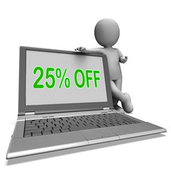 Twenty Five Percent Off Monitor Means Deduction Or Sale Online