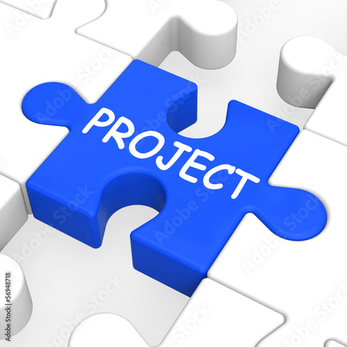 Project Puzzle Shows Plan Mission Or Task