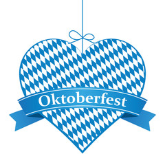 Oktoberfest Herz mit Banner