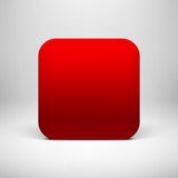 Technology Red Blank App Icon Template