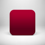 Technology Maroon Blank App Icon Template