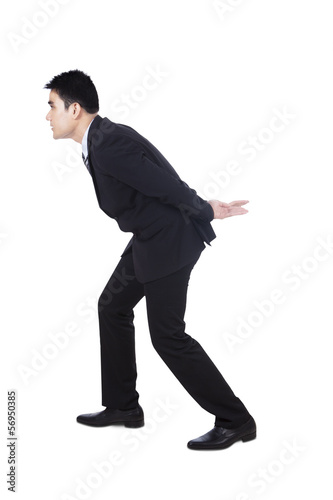 Businessman carrying something