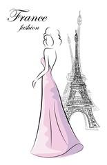 Мода женщина в Париже