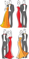 Набор моды людей - вектор