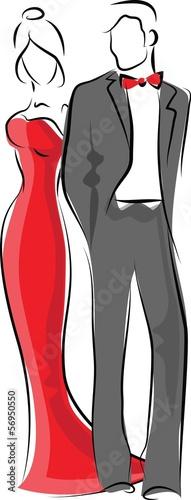 Постер, плакат: Мода людей вектор, холст на подрамнике