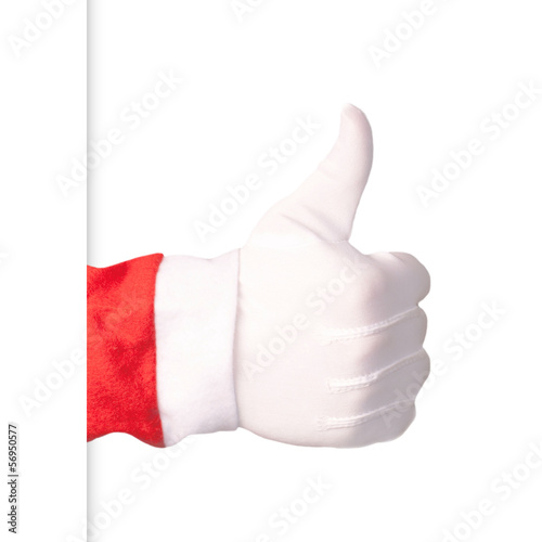 Santa Claus showing thumbs up