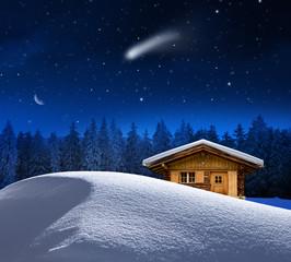 Weihnachtliche  Schihütte