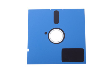 diskette on the white background