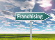 "Signpost ""Franchising"""