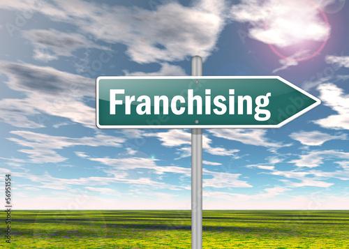 "Signpost ""Franchising"""