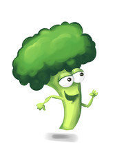 Running broccoli cartoon