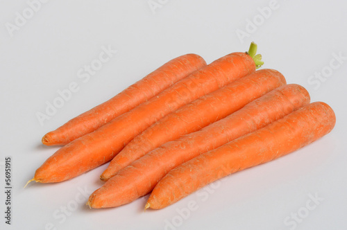 Carrots in the foreground