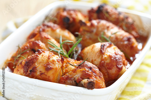 Baked chicken legs
