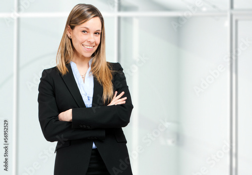 Young businesswoman portrait in her office