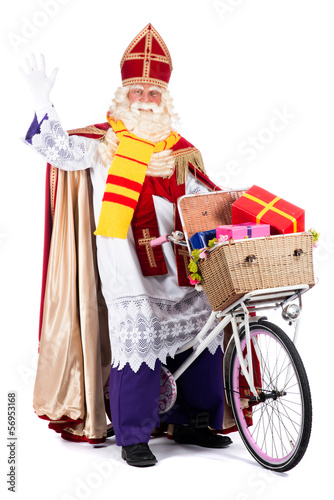Sinterklaas on a bike