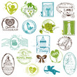 Vintage Rubber Stamp Collection - for your design, scrapbook