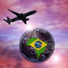 airplane world, brazil Elements of this image furnished by NASA