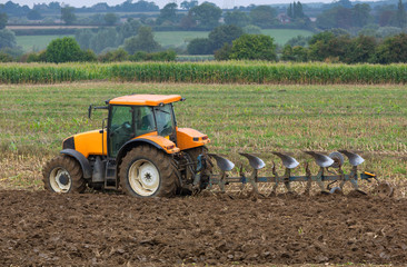 Ploughng for the new season of crops