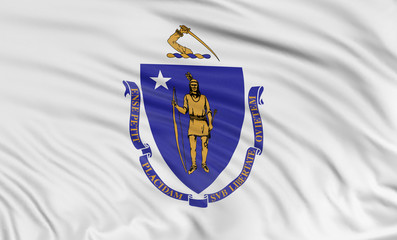 3D Massachusetts Flag