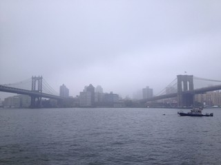 View from the Two Bridges area of Manhattan towards Brooklyn