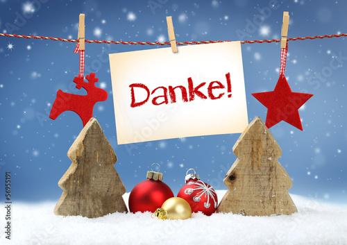 Weihnachtliches mit Danke