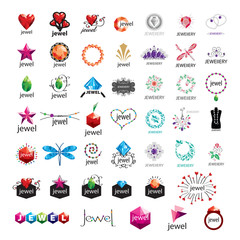 large collection of vector logos jewelry, gold jewelry