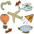 Air Travel Icon Set