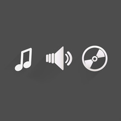 Background with music icons,flat design