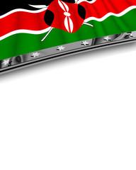 Designelement Flagge Kenia