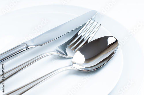 Shiny new cutlery, silverware - 56956579