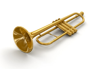 Trumpet (clipping path included)