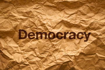 Democracy on Crumpled paper