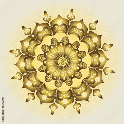 Elegance gold round pattern
