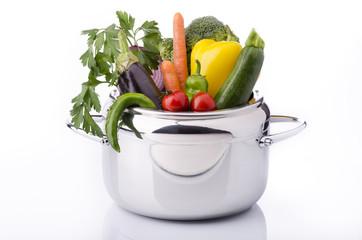 verdure miste in pentola