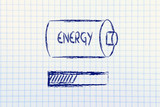 energy progress bar loading, notepad design