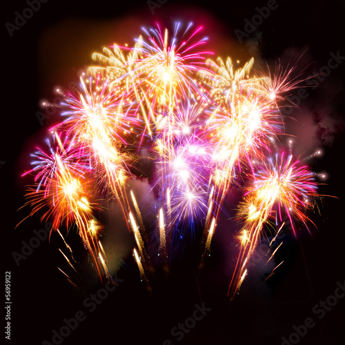 canvas print picture Beautiful Fireworks Display