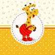 giraffe in pants - vector illustration