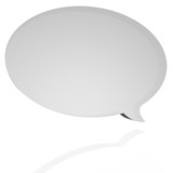 Oval speech balloon