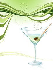 Martini. Vector background.
