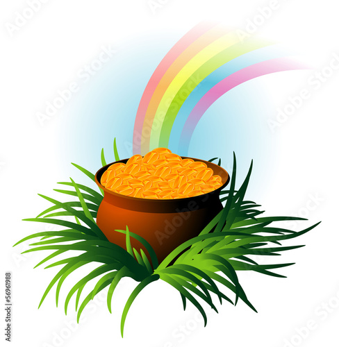 Magic pot. Vector.