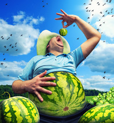 Bizarre farmer
