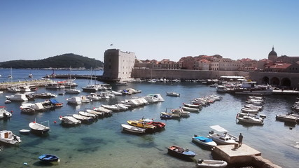 Dubrovnik old tow harbor.