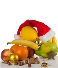 Gesunde Weihnachten – Nikolausmütze mit Früchten & Nüssen
