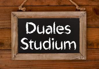 Duales Studium Schild