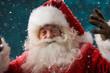 Happy Santa Claus laughing